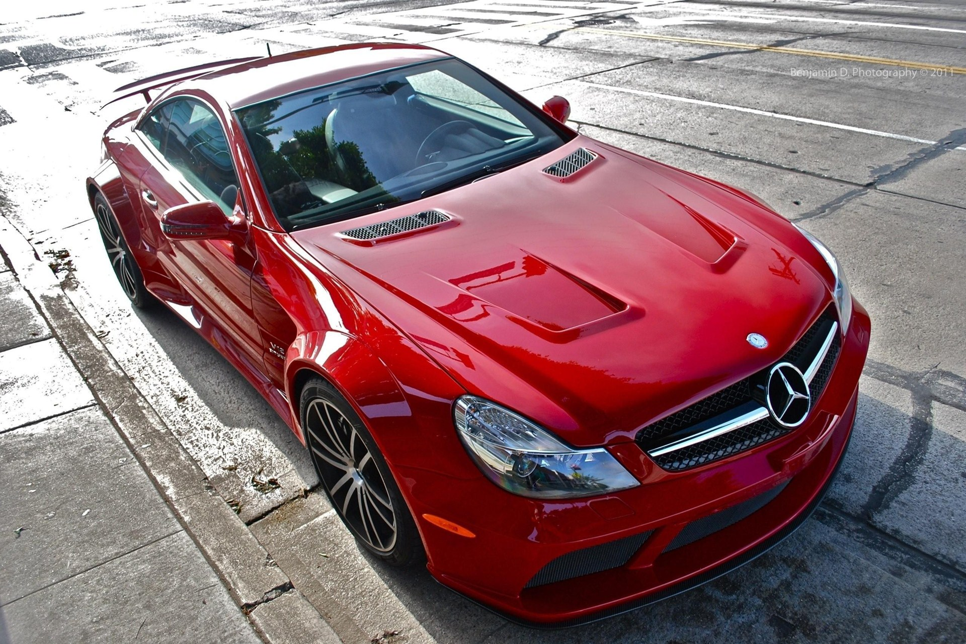 Mercedes-Benz Sl65 Amg Red Sports Car Wallpaper