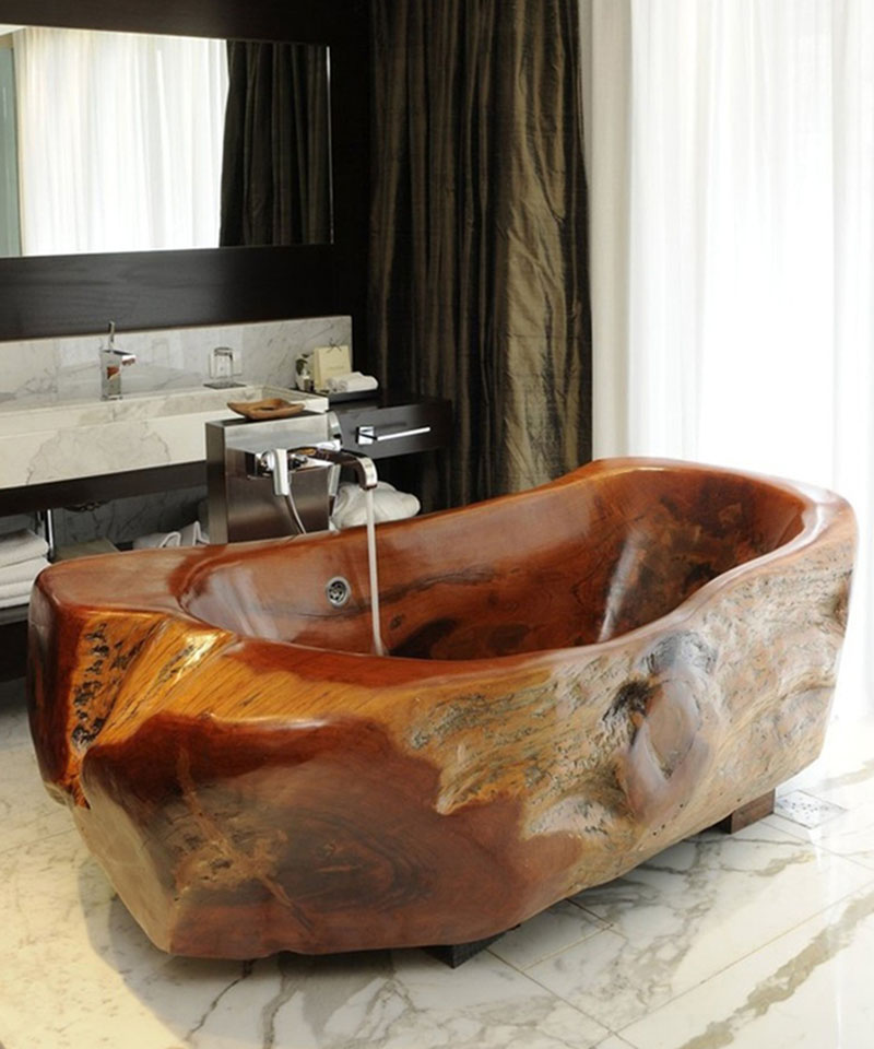 Wooden stem bathtub 800x
