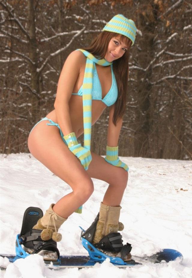 Bikini snow bunnies
