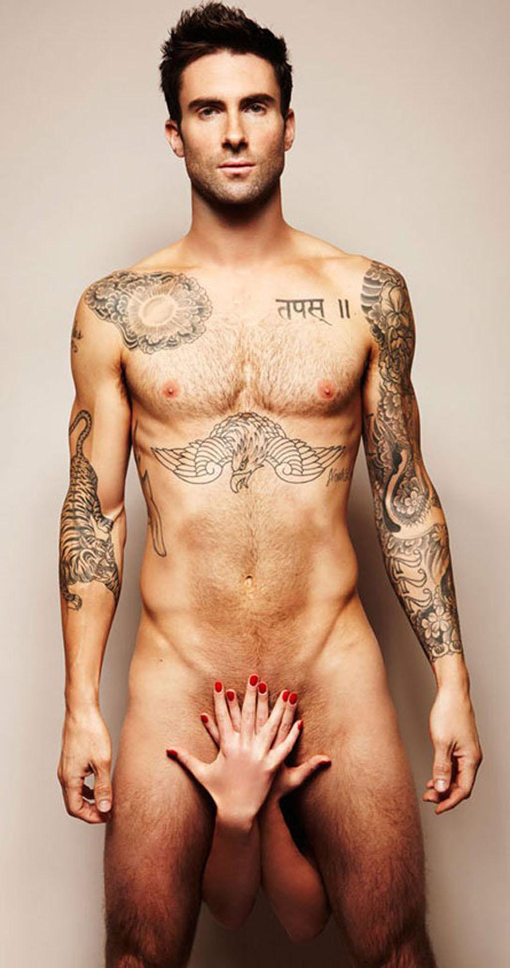 Maroon 5's Adam Levine Naked 1024