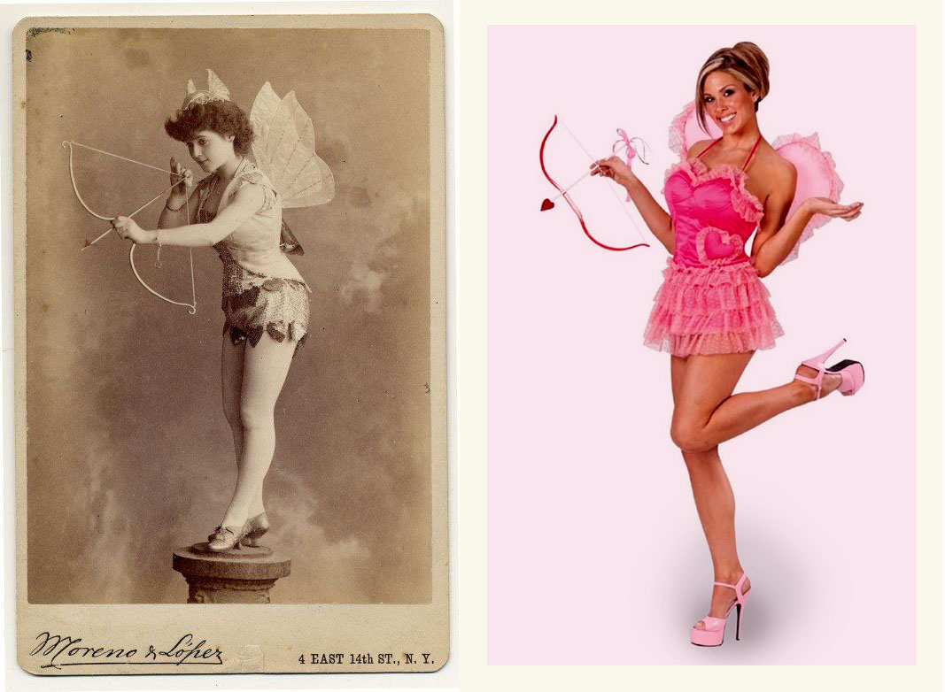 Valentine's Card - Cupid Girl with Bow