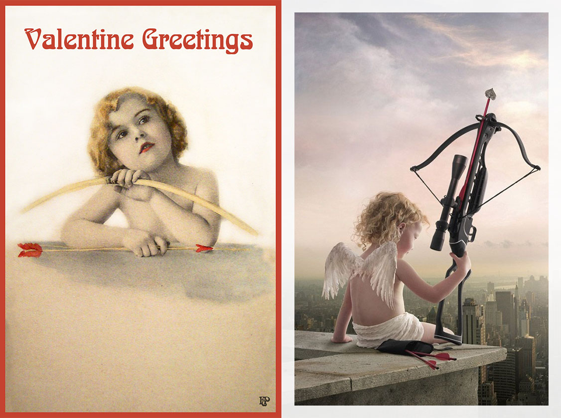 Valentine's Card - Cupid with Bow