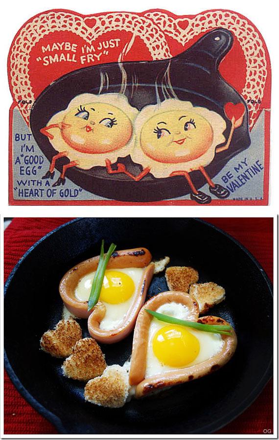 Valentine's Card -  Eggs on Pan