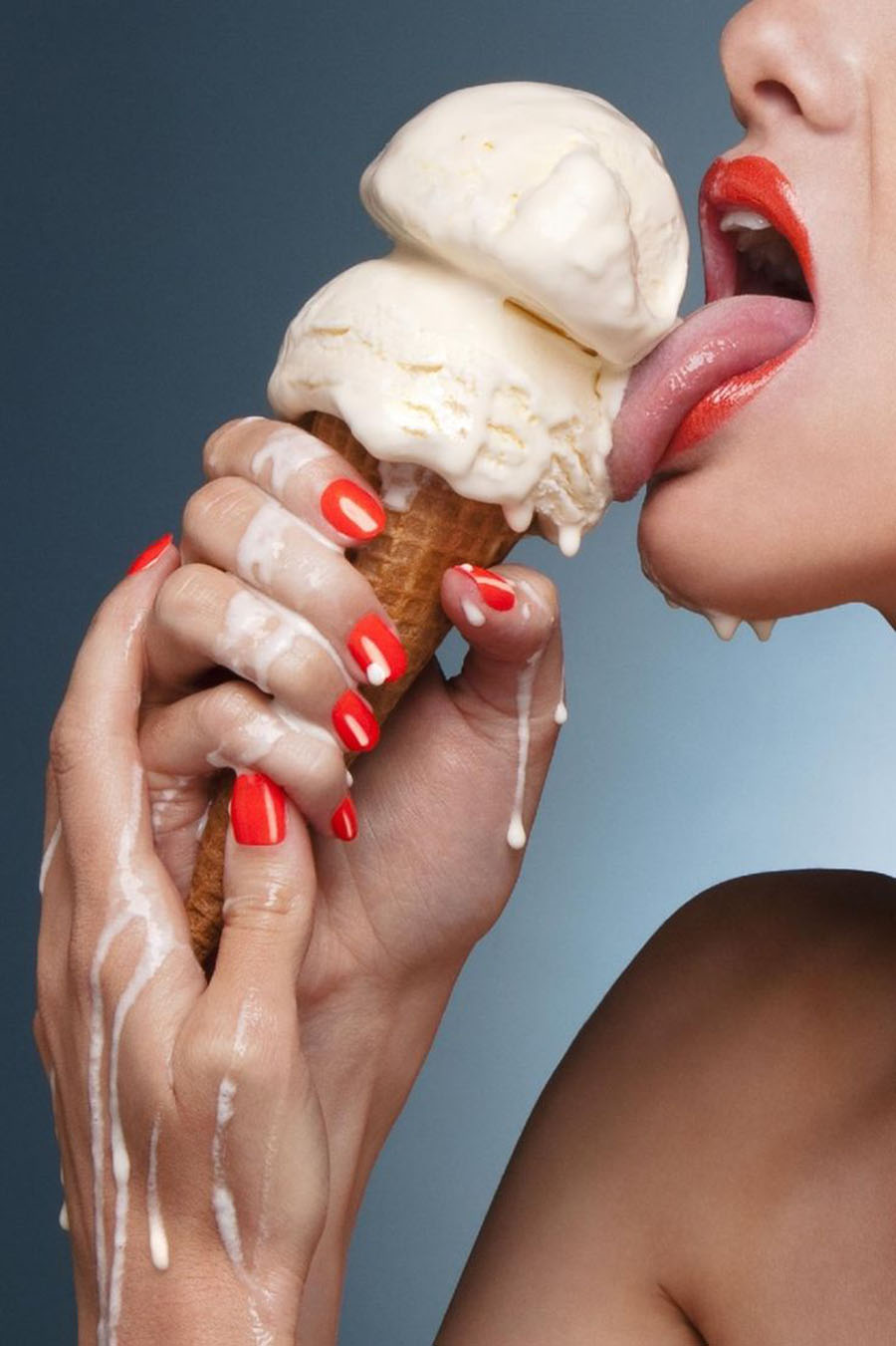 Licking Flowing Ice Cream 900x