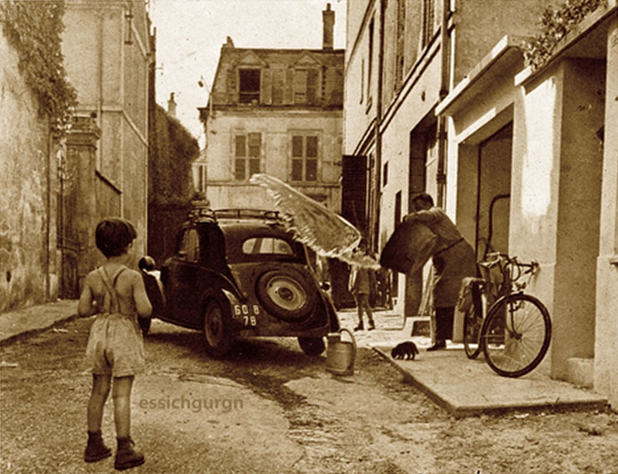 Vintage self car wash in the street