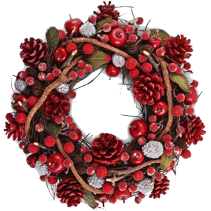pinecone-and-berry-christmas-wreath png